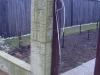 Монолитный забор столб