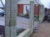 Монолитный забор Въезд