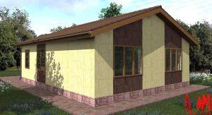 Одноэтажный дом с чердачной (холодной) крышей 12 на 14