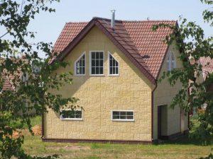 Облицовка домов фактурными плитами Техноблок