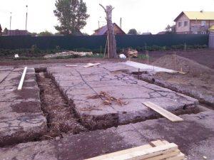 Техноблок. Подготовка к фундаменту (на участке была площадка из асфальта). Пермь
