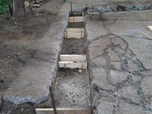 Техноблок. Подготовка деревянных каркасов для заливки свай. Пермь