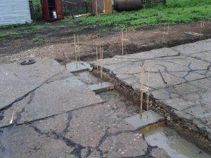 Техноблок. Заливаем сваи бетоном. Пермь